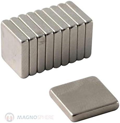 Nichel Blocco magnetico 40 x 10 x 5mm Neodimio N42 forza 8 kg 5 pezzi
