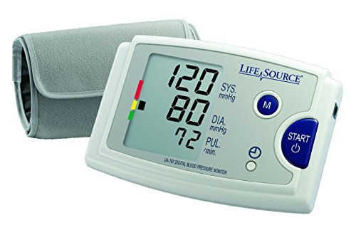 LifeSource Premium Blood Pressure Monitor with Pre-Formed Upper Arm Cuff (UA-787EJ)