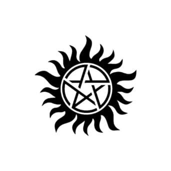 Amazoncom AntiPosession Symbol Supernatural Die Cut Vinyl - Die cut vinyl decal stickers