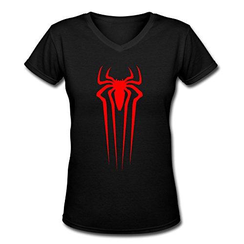 HM Women's Tshirts Spiderman Front Logo Size XXL Black