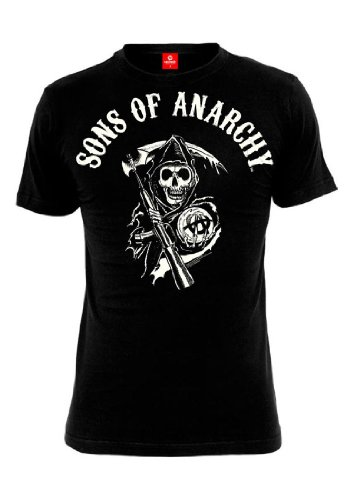 Sons of Anarchy T-Shirt Men - REAPER LOGO - Black