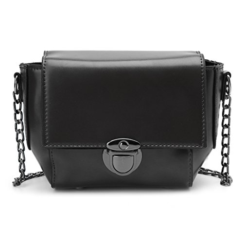 Handbag Tote Women Hobo Black Lady Kofun Crossbody Black Shoulder Bag Chain Messenger EpOg77q6n
