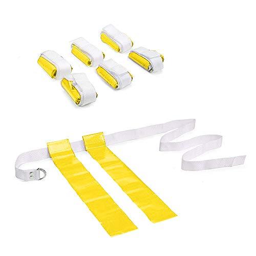 GOGO 6 PCS Flag Football Set with Belt-Yellow-2 Flags