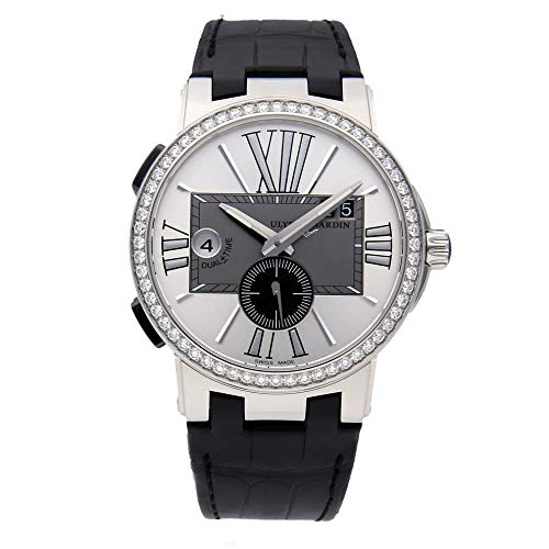 Ulysse Nardin Executive Dual Time Mechanical (Automatic) Silver Dial Mens Watch 243-00B/421 (Certified Pre-Owned)