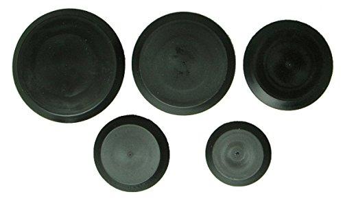 25 Piece Flush Mount Black Hole Plug Assortment for Auto Body and Sheet Metal 4