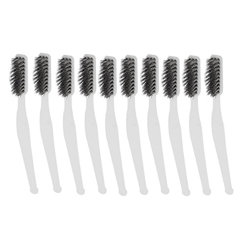 Stainless Steel Wire Brush (Saim 7 inch Mini Stainless Steel Wire Brush Set for Cleaning Welding Slag and Rust Pack of 10)