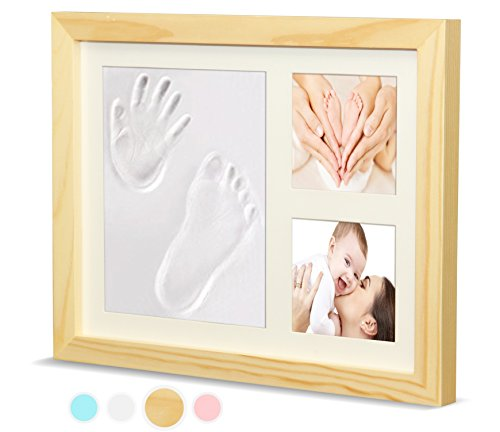 Timeless Newborn Baby Hand and Footprint Kit and Frame – Adorable Baby Keepsake Gift for New Moms, Dads, and Grandparents – Unique Baby Shower Gifts – Perfect for Baby Boy and Girl Room Decor by Ninos