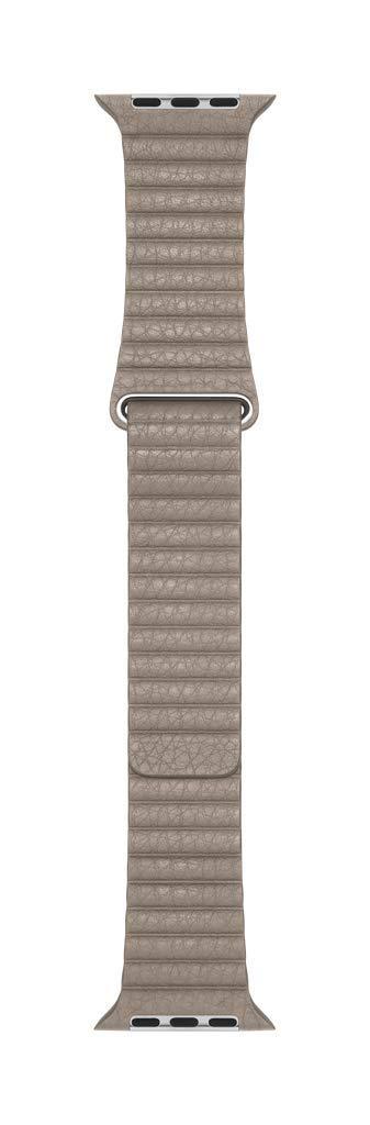 Apple Watch Leather Loop Band (44mm) - Stone - Medium