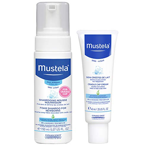 Mustela Cradle Cap Bundle, Natural Baby Shampoo and Cradle Cap Cream, 2 Items ()