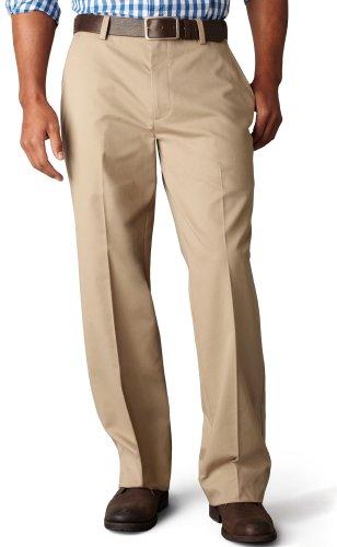 Dockers Men's Easy Khaki D3 Classic Fit Flat-Front Pant, Black, 36x29