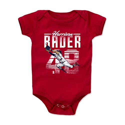 500 LEVEL Harrison Bader St. Louis Baseball Baby Clothes, Onesie, Creeper, Bodysuit (6-12 Months, Red) - Harrison Bader Retro W WHT