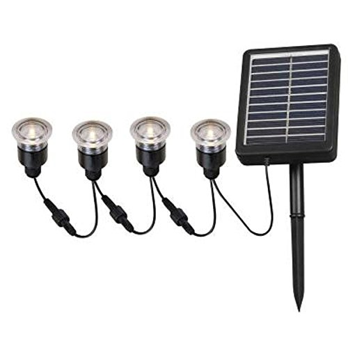 Kenroy Home 2 In. Outdoor Solar String Black Deck Light (4-pack) by Kenroy Home (Image #1)
