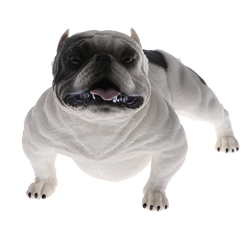 listic Wildlife Animals American Bully Pitbull Dog Action Figure Toys Playset, Kids Toddler Nature Toys Home Decor Collectibles White (American Wildlife Display)