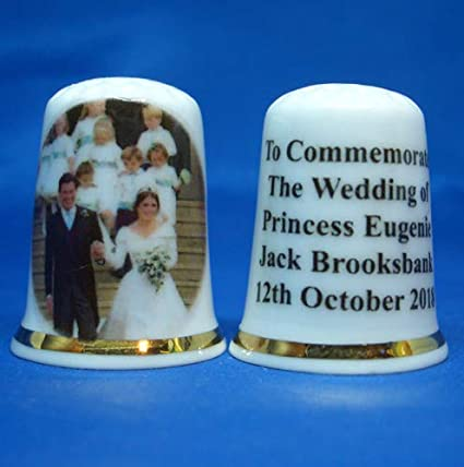 Birchcroft Porcelain China Collectable Thimble Princess Eugenie Wedding Free Box