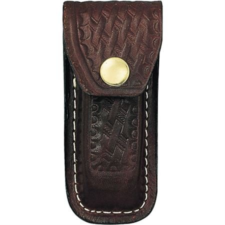 Sheath Swiss Army Belt Sheath  Large  Brown  Basketweave