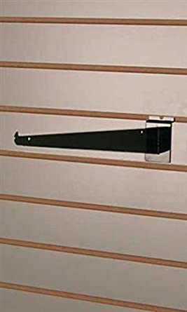 Case of 8 New or Retail Black Slatwall Shelf Bracket 12 inch
