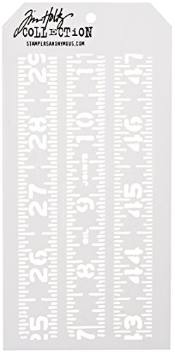 Stampers Anonymous Tim Holtz Layered Stencil, 4.125-Inch by 8.5-Inch, Measured