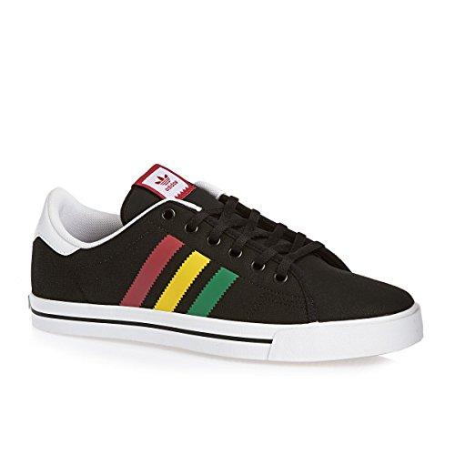 Stripes Zapatilla Adicourt Negro Adidas Hombre 45364 gFTIq8
