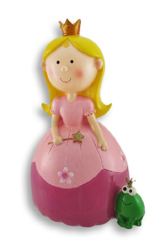 Zeckos Resin Girls Toy Banks 79695 A Princess And Her Fro...