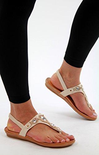 Generic - Zapatos de tacón  mujer Beige