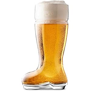 Das Boot Huge Beer Glasses, 1 L, Clear