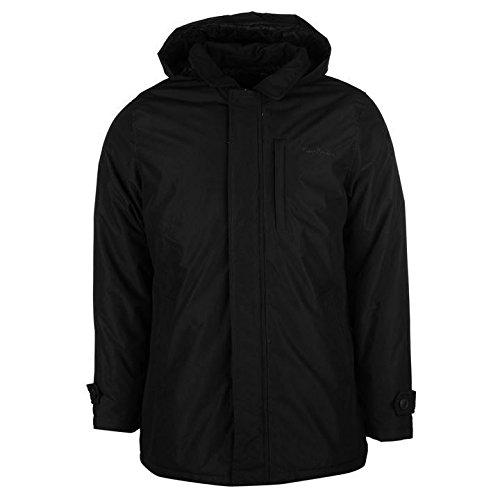 Pierre Cardin à capuche Mac Veste pour homme Noir vestes manteaux Parka