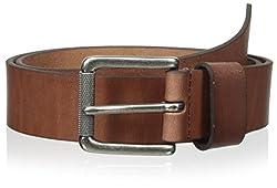 Dimensions by WCM Men's Roller Bar Belt, Brown, 34 US