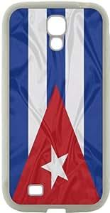 Rikki KnightTM Cuba Flag Design Samsung\xae Galaxy S4 Case Cover (White Hard Rubber TPU with Bumper Protection) for Samsung Galaxy S4