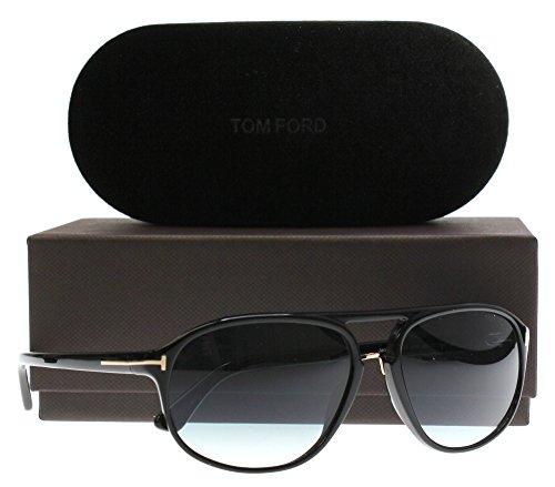 Tom+Ford+Men+FT0447+JACOB+60+Black%2FBlue+Sunglasses+60mm