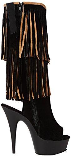 Matte tan Noir Classiques Femme blk Bottes Suede Delight Pleaser blk 2059tt px0qv61wR