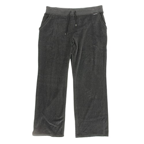 Plus Michael Kors Size Jeans (MICHAEL Michael Kors Womens Plus Velour Lounge Casual Pants Gray 2X)