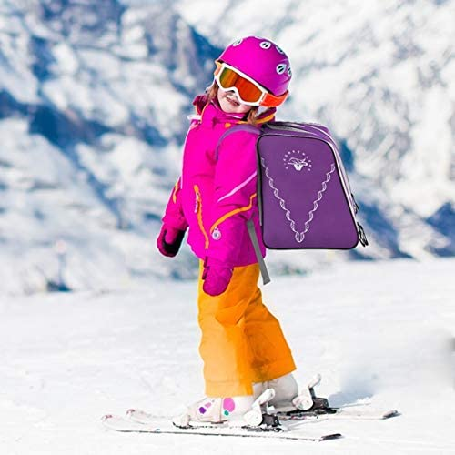 VieGreenleaf ski Boots Backpack for Kids Toddler Everything ski Goggles, Skate, ski, Snowboard Boots, Helmet, Gloves and Snacks Perfect for ski, Snowboard, Skate, Outdoor Activities or air Travel