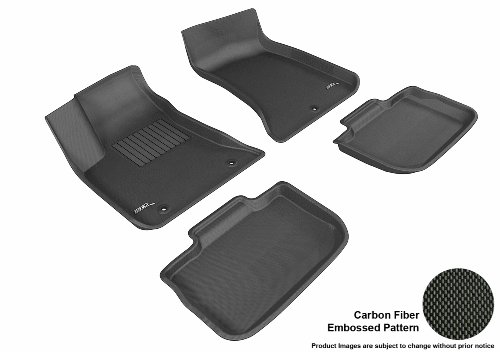 3D MAXpider Complete Set Custom Fit All-Weather Floor Mat for Select Dodge Charger Models – Kagu Rubber (Black)