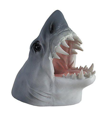 Resin Wine Bottle Holders Parched Predator Shark Head Wine Bottle Holder 6.25 X 9 X 9 Inches Gray Model # PWH-42 (Resin Wine Bottle Holder)
