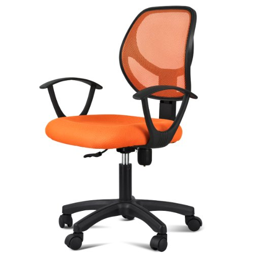 Yaheetech Adjustable Swivel Computer Desk Task Chair Orange