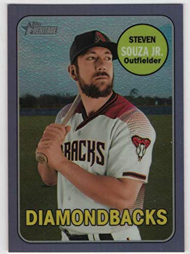 2018 Topps Heritage High Number Chrome Purple Refractor #THC-526 Steven Souza Jr. Diamondbacks