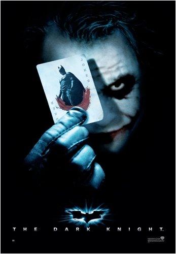 Batman - The Dark Knight - New Movie Poster (The Joker / Playing Card - Dark) (Size: 27