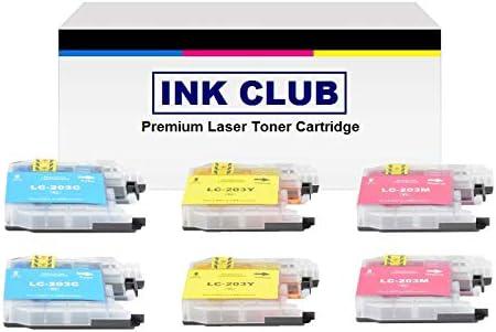 2+2+2 InkClub 6PK LC203C LC203M LC203Y XL Series For Brother MFC-J4320DW J4420DW J460DW J4620DW J480DW J485DW J5520DW J5620DW J5720DW J680DW J880DW J885DW Compatible Ink Cartridge Set