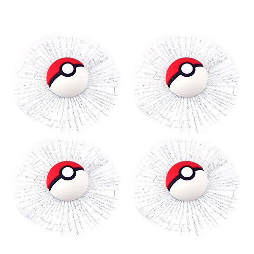 3D Pocket Monster Ball Wall Car Window Stickers for Decoration Set of 4(Original Ball)