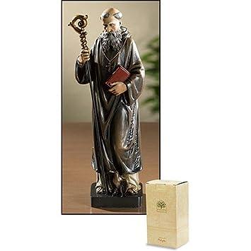 Patron Saint St Benedict Catholic Christian Statue Figure Home Decor Protection