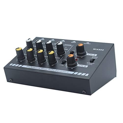 N-AUDIO Mini mezclador de audio de karaoke profesional Línea ultra compacta Amplificador de mezcla de sonido de micrófono...