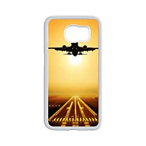 Diy Airplane Pattern Customized for samsung galaxy s6 White Back Cover Phone Case