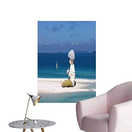 SeptSonne Wall Decals Huge Children Play in The Tiny World Environmental Protection Vinyl,24