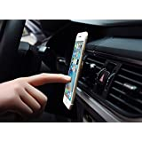 Car Mount, Cellphone Holder, Universal Vehicle Air Vent 360 Degree Adjustable Magnetic for Apple iPhone X 8 7 6S Plus SE, Samsung Galaxy S8 S9 S7 S6 Edge S5 Note 5 4, LG Sony HTC