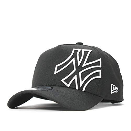 (ニューエラ) NEW ERA キャップ スナップバック 9FORTY A-FRAME BATTALION MLB ニューヨークヤンキース ブラック/ホワイト FREE (サイズ調整可能)