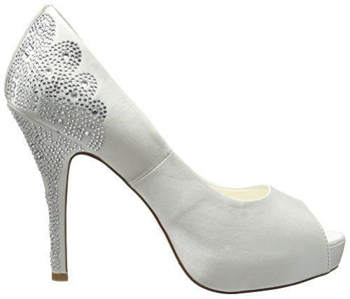 Menbur Angelina, Zapatos de Tacón para Mujer Blanco (Off White 04)