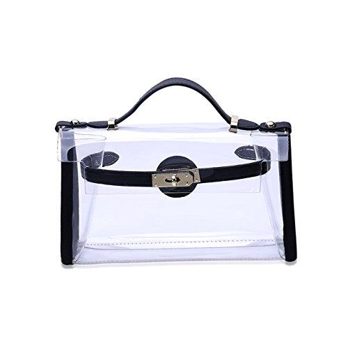 Shoulder Black Bags Transparent Women Bag Bags Totes THEE S17vqU