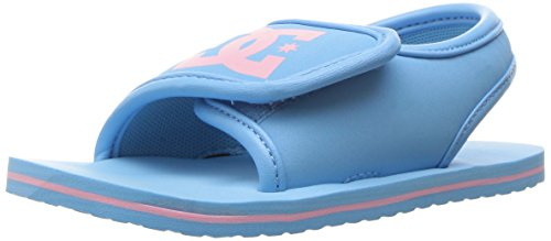 DC Girls' Bolsa Flip Flop, Blue/Pink, 10 M US Toddler