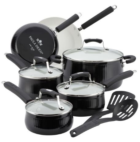 paula deen cookware black - 3