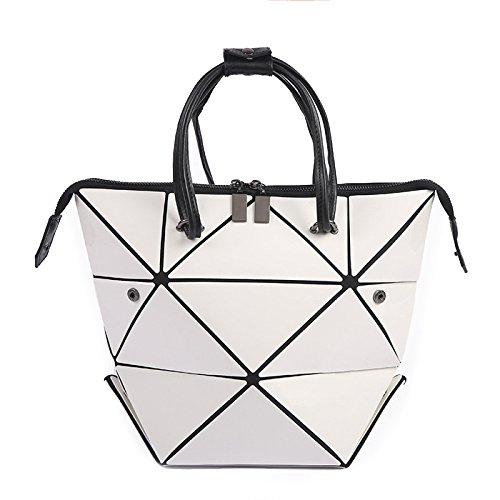 Ladies Handbag Fashionable High-capacity Folding Bag Purse Simple White Women